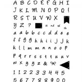 Card-io Combinations A6 Clear Stamp Set - Alphabet Bunting - CDCCSTALP-02